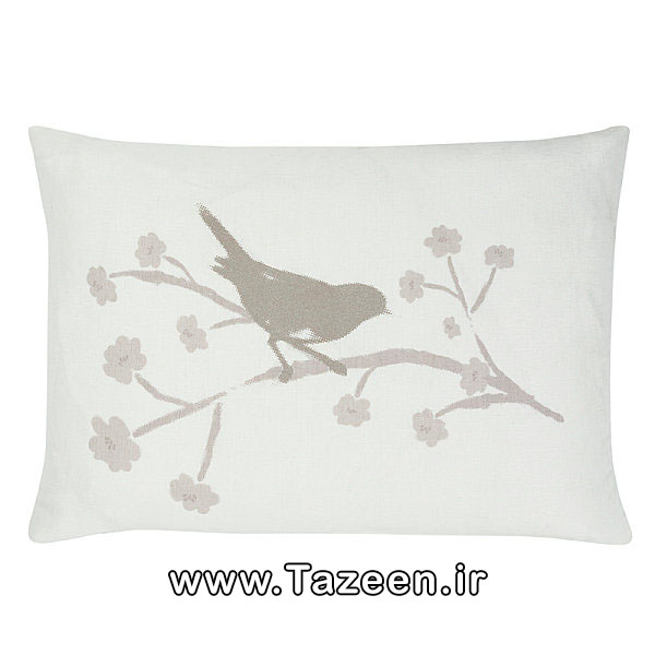 Bird-motif-cushion
