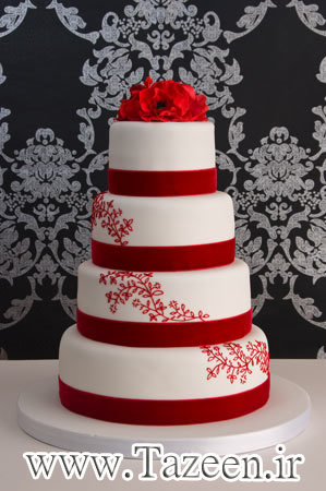 www.tazeen.ir Red-Wedding-Cake-1