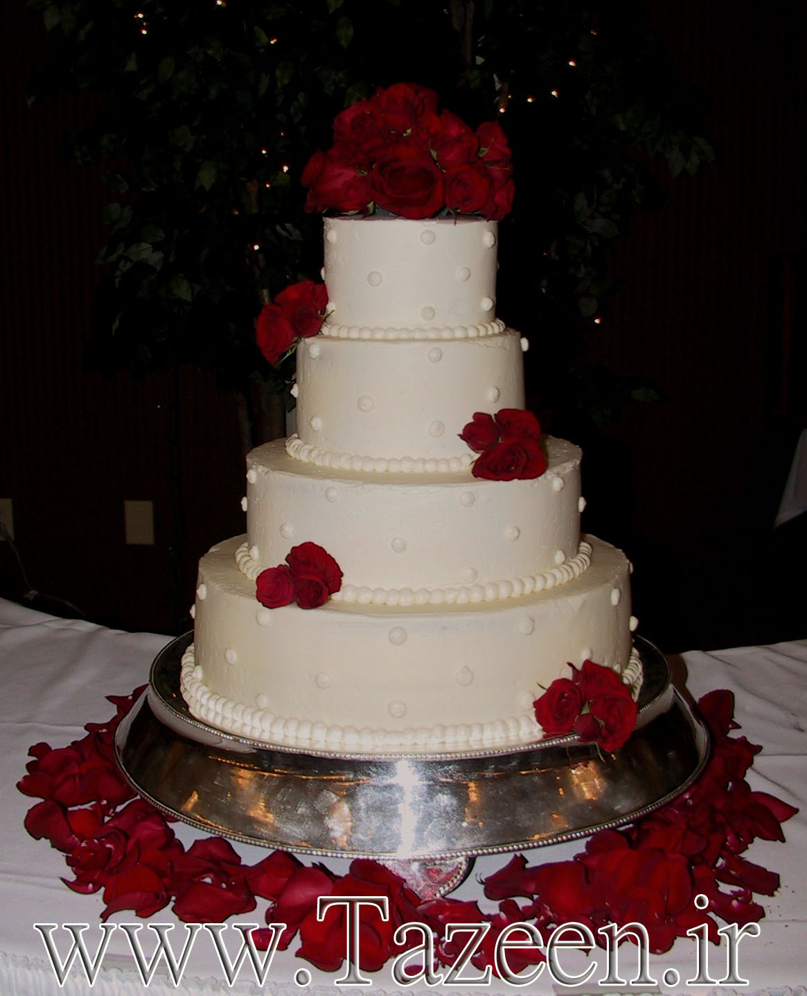 www.tazeen.ir Red-Wedding-Cake-3